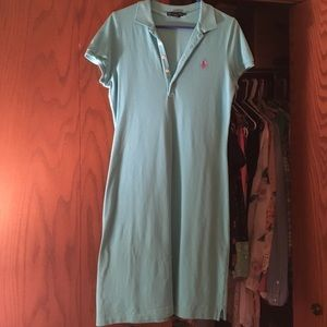 Aqua blue Ralph Lauren dress