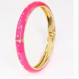 Adia Kibur Jewelry - 💗Pink Enamel Gold Dotted Bangle💗