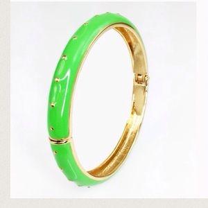 Adia Kibur Jewelry - 💚Neon Lime Green Enamel Dotted Bangle💚