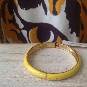 Adia Kibur Jewelry - ⚜ Yellow Enamel Dotted Bangle⚜