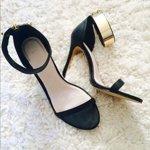 ASOS Shoes - Asos skinny gold plated ankle strap stiletto heel