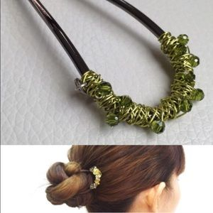 Colette Malouf Lime Hair Pin