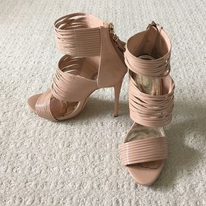 Liliana Shoes - Nude Strappy Heels size 8