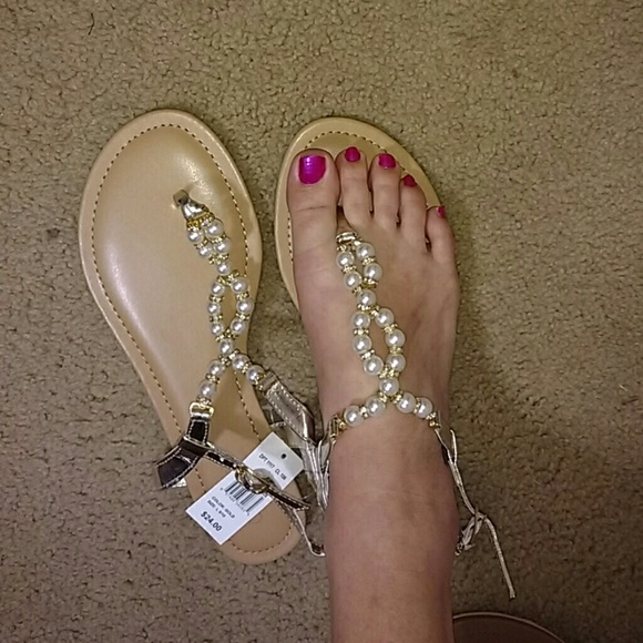 a6748876e5c Pearl Beaded Thong Sandals