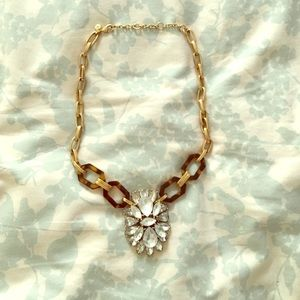 Tortoise/ Crystal Statement Necklace J. Crew