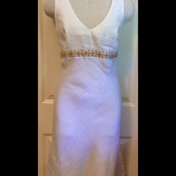 e2730c068a2 Blue Sand Dresses   Skirts - LINO 100% LINEN DRESS SMALL SZ 44 DRESS ITALY
