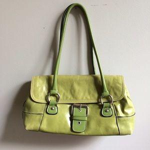 Giani Bernini Handbags - Green Leather Handbag Satchel