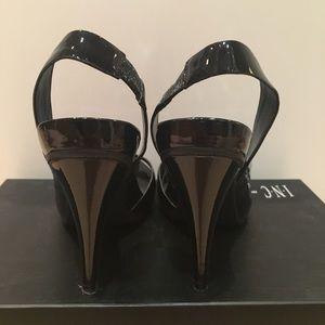 62ac7e7b53a INC International Concepts Shoes - INC Marina Black Patent Peep Toe  Slingback Pumps