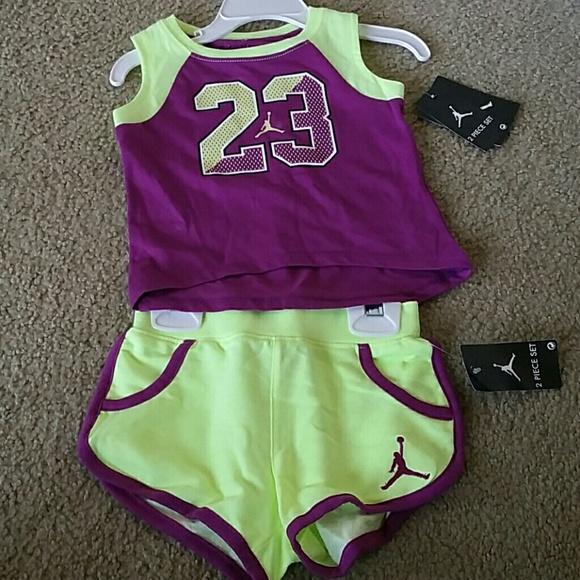56f9a319cd60 Baby girls Jordan set tanktop shorts NWT