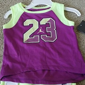 002c6d48f364 Jordan Shirts   Tops - Baby girls Jordan set tanktop shorts NWT
