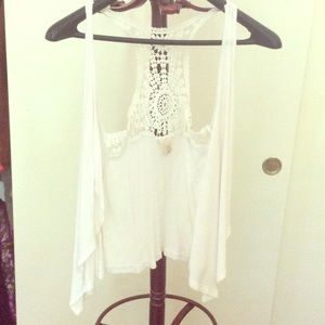Charlotte Russe Other - 🌟White cardigan with sequenced back💫