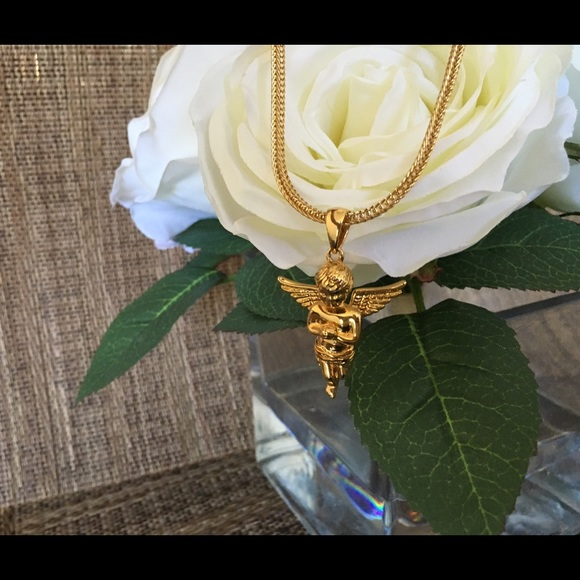 The Gold Gods Jewelry 18k Micro Angel Piece Necklace By Poshmark