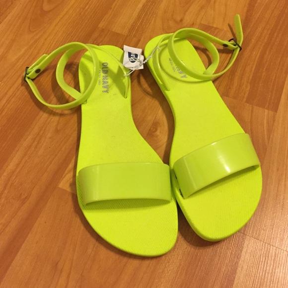 b0d80ac953eebf Neon green sandals