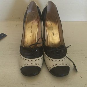 Marc by Marc Jacobs black and white heels.