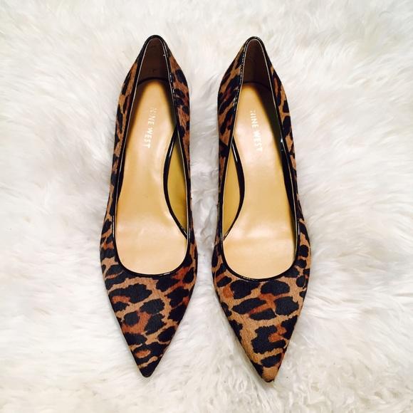 Pony Hair Leopard Print Kitten Heels