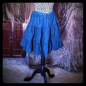 Desert West Dresses & Skirts - Dark green tiered cowgirl circle skirt one size