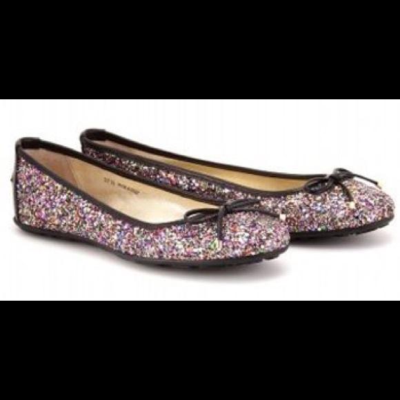 8ef92423e3e Jimmy Choo Shoes - Authentic Jimmy choo Walsh glitter ballet flats