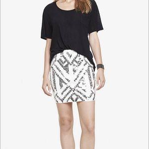 EXPRESS high waisted sequin chevron skirt