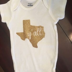 Tops - Gold Texas Y'all Onesie