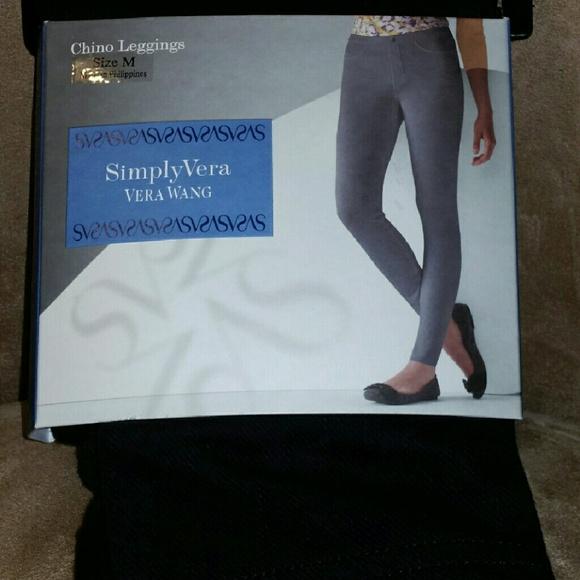 747eeaf0380bb Simply Vera Vera Wang Pants | Simply Vera Wang Chino Leggings | Poshmark