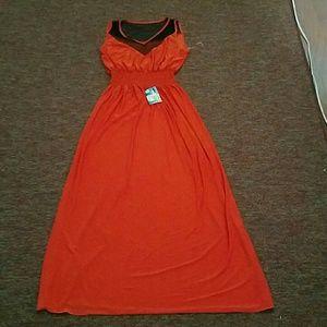Collection B Dresses & Skirts - Never worn, still tagged Orange /black maxi dress