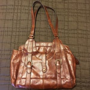 Brown/cognac  leather purse