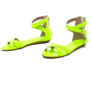 Rebecca Minkoff Bettina neon green sandals