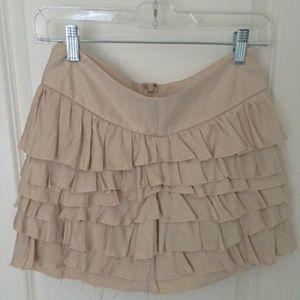 Express Dresses & Skirts - NWT Express Beige ruffle skirt size 00