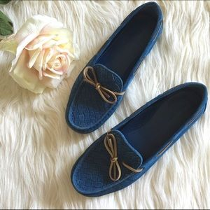 Bottega Veneta Shoes - ✨SALE✨Bottega Veneta Moca Pelle Blue Loafers