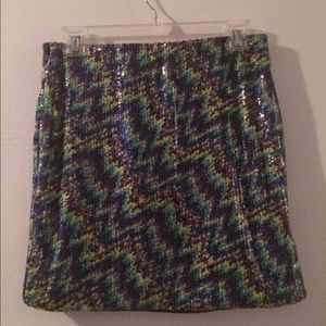 Sequined Multi-Colored Mini Skirt