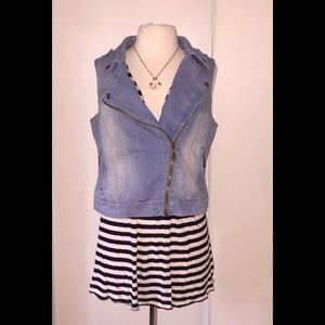 🎉SALE🎉Light Denim Zip Vest