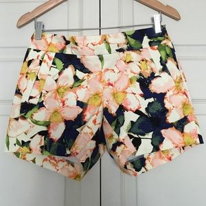 "J. Crew 5"" Floral Chino Shorts"