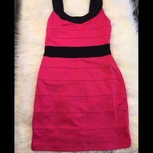 Pink & Black dress ✨