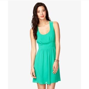 Forever 21 Dresses & Skirts - Strappy Emerald Green Dress, Sz S