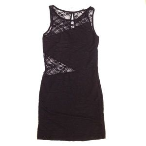 Voxx Dresses & Skirts - Lace Cutout Bodycon Mini Dress by VOXX New York