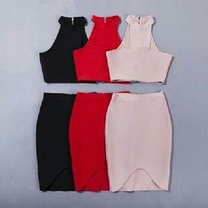 Two piece bandage dress
