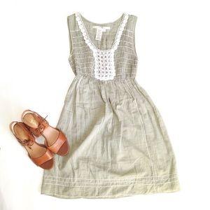 Max Studio Dresses & Skirts - Max Studio Pale Moss Green Gauzy Cotton Dress
