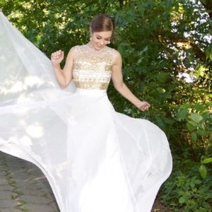 Jovani Dresses & Skirts - Jovani white formal prom wedding dress