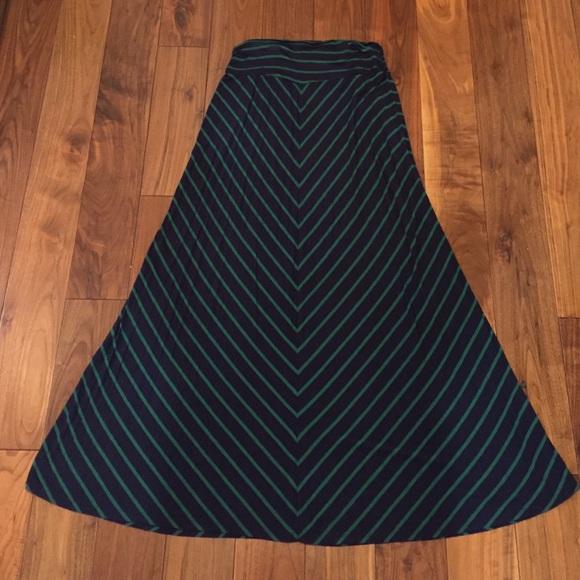 74 merona dresses skirts blue and green chevron