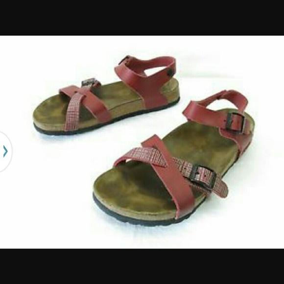 Birkenstock Shoes - Birkenstock Birkis cross ankle strap sandals e8a3e8d9892