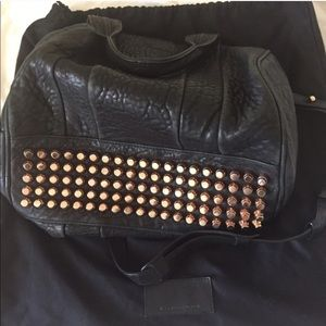 Alexander wang Rocco satchel black rose gold