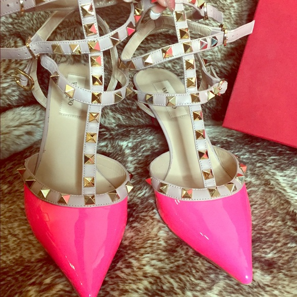 cb8e372d00 Valentino Shoes | Rockstud Kitten Heel Pump | Poshmark