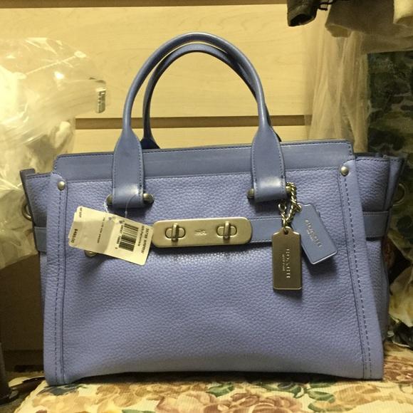 COACH periwinkle blue purple bag 003abea220f99
