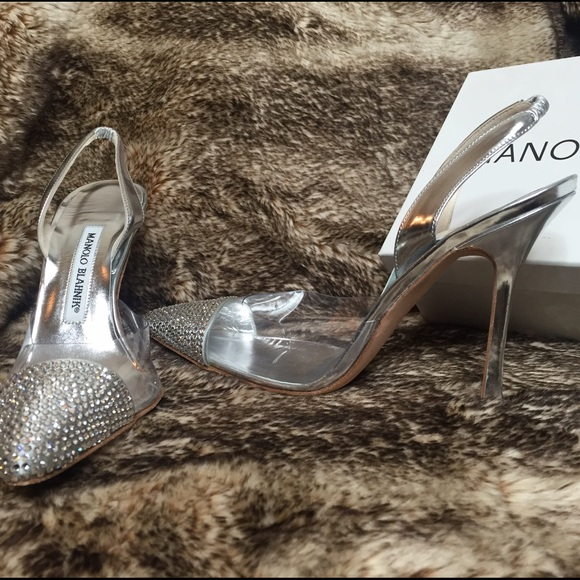 Manolo Blahnik Shoes - Brand new Manolo Blahnik cap toe crystal pumps