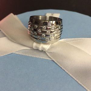 Jewelry - Simulated diamond scatter band