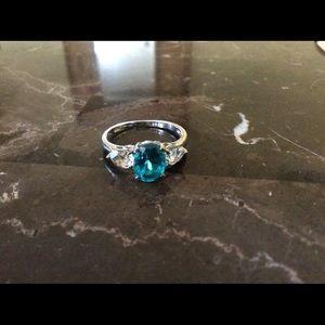 Jewelry - New Capri Blue Genuine Quartz Ring