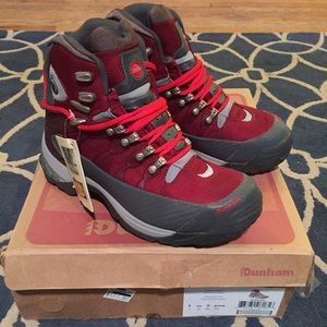 Dunham Shoes - Dunham Hiking Boots Crimson Red Vibram Soles
