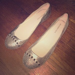 Modern Vice Shoes - Sparkly flats with rhinestones and spikes