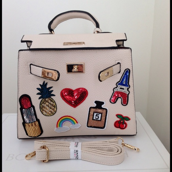 Bags - Appliqué/Patch Sequin Top Handle/Crossbody Tote