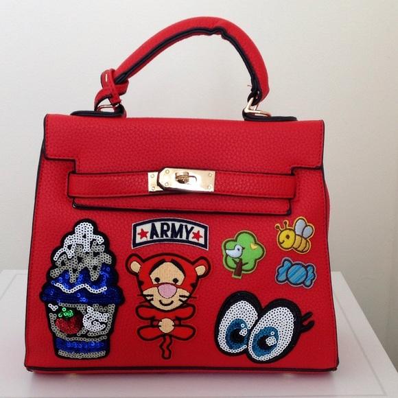Bags - Appliqué/Patch Sequin Top Handle/Crossbody Tote